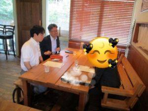 相談カフェの様子(ユノカフェ店内)